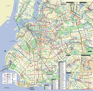 Plano de la red de autobus de Brooklyn